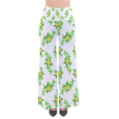 Airy Floral Pattern So Vintage Palazzo Pants by dflcprints