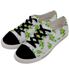 Airy Floral Pattern Men s Low Top Canvas Sneakers by dflcprints