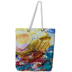 June Gloom 10 Full Print Rope Handle Tote (large) by bestdesignintheworld