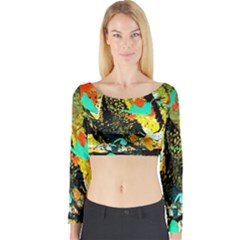 Fragrance Of Kenia 6 Long Sleeve Crop Top by bestdesignintheworld