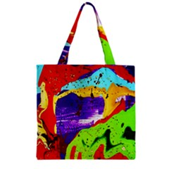 Untitled Island 2 Zipper Grocery Tote Bag by bestdesignintheworld