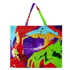 Untitled Island 2 Zipper Large Tote Bag by bestdesignintheworld