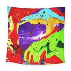 Untitled Island 2 Square Tapestry (large) by bestdesignintheworld