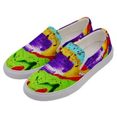 Untitled Island 2 Men s Canvas Slip Ons by bestdesignintheworld