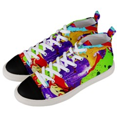 Untitled Island 2 Men s Mid Top Canvas Sneakers by bestdesignintheworld