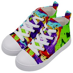 Untitled Island 2 Kid s Mid Top Canvas Sneakers by bestdesignintheworld