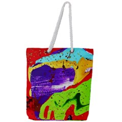Untitled Island 2 Full Print Rope Handle Tote (large) by bestdesignintheworld