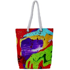 Untitled Island 2 Full Print Rope Handle Tote (small) by bestdesignintheworld