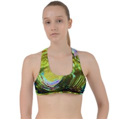 June Gloom 9 Criss Cross Racerback Sports Bra
