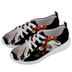 Animal Skull With A Wreath Of Wild Flower Women s Lightweight Sports Shoes by igorsin