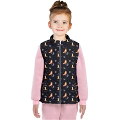 Floral Foxes Kid s  Puffer Vest