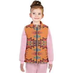 Misc Shapes On An Orange Background                              Kid s Puffer Vest