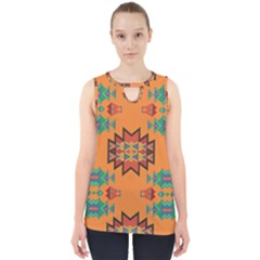 Misc Shapes On An Orange Background                                    Cut Out Tank Top