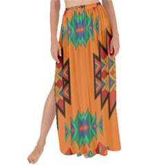 Misc Shapes On An Orange Background                                  Maxi Chiffon Tie-up Sarong by LalyLauraFLM