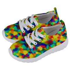 Colorful Watercolors Texture                            Kids  Lightweight Sports Shoes by LalyLauraFLM