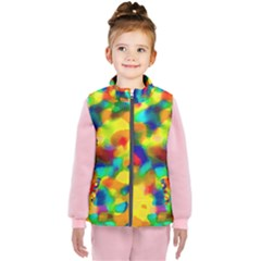 Colorful Watercolors Texture                              Kid s Puffer Vest