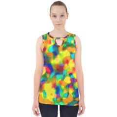 Colorful Watercolors Texture                                    Cut Out Tank Top