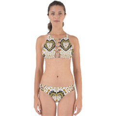 Hearts In A Field Of Fantasy Flowers In Bloom Perfectly Cut Out Bikini Set by pepitasart