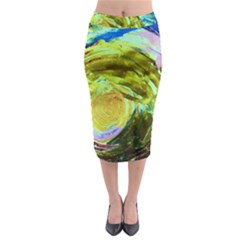 June Gloom 9 Midi Pencil Skirt