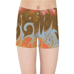 Fire And Water Kids Sports Shorts by digitaldivadesigns