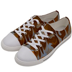 Fire And Water Women s Low Top Canvas Sneakers by digitaldivadesigns