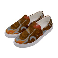 Fire And Water Women s Canvas Slip Ons by digitaldivadesigns