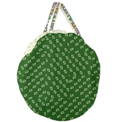 Canal Flowers Cream Pattern Cream Background Sqaured Canal Flowers Cream On Green Small Squared Canal Plaques Galore Canalsbywhackylogo1 Giant Round Zipper Tote by bywhacky