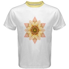 Asiatic Lily Flower Mandala Men s Cotton Tee