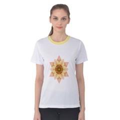 Asiatic Lily Flower Mandala Women s Cotton Tee by flowermandalas