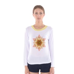 Asiatic Lily Flower Mandala Women s Long Sleeve Tee by flowermandalas