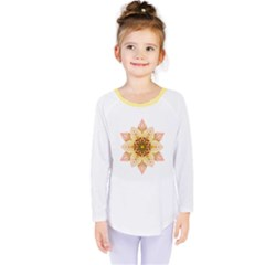 Asiatic Lily Flower Mandala Kids  Long Sleeve Tee