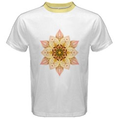 Asiatic Lily Flower Mandala Men s Cotton Tee by flowermandalas