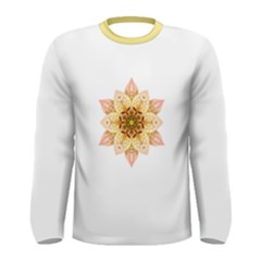 Asiatic Lily Flower Mandala Men s Long Sleeve Tee by flowermandalas