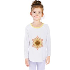 Asiatic Lily Flower Mandala Kids  Long Sleeve Tee by flowermandalas