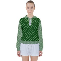 Canal Flowers Cream And Greens Women s Tie Up Sweat