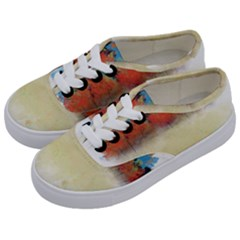 Colorful Tree Landscape In Orange And Blue Kids  Classic Low Top Sneakers by digitaldivadesigns