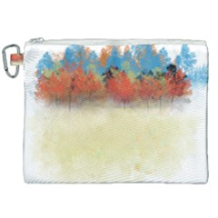 Colorful Tree Landscape In Orange And Blue Canvas Cosmetic Bag (xxl) by digitaldivadesigns