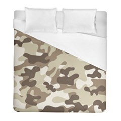 Camouflage Brown Pattern Duvet Cover (full/ Double Size) by goodart