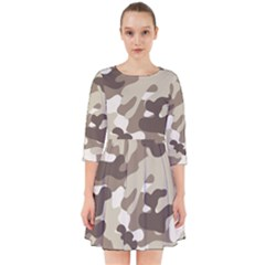 Camouflage Brown Pattern Smock Dress by goodart