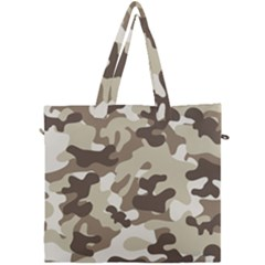 Camouflage Brown Pattern Canvas Travel Bag by goodart