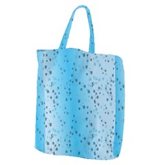 Blue Paint Splashes Pattern Giant Grocery Zipper Tote by goodart