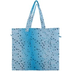 Blue Paint Splashes Pattern Canvas Travel Bag by goodart