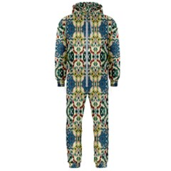 Colorful Abstract Background Hooded Jumpsuit (men)