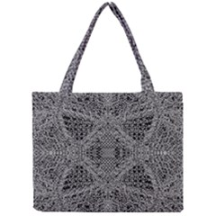 Black And White Psychedelic Pattern Mini Tote Bag by goodart