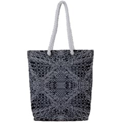 Black And White Psychedelic Pattern Full Print Rope Handle Tote (small) by goodart