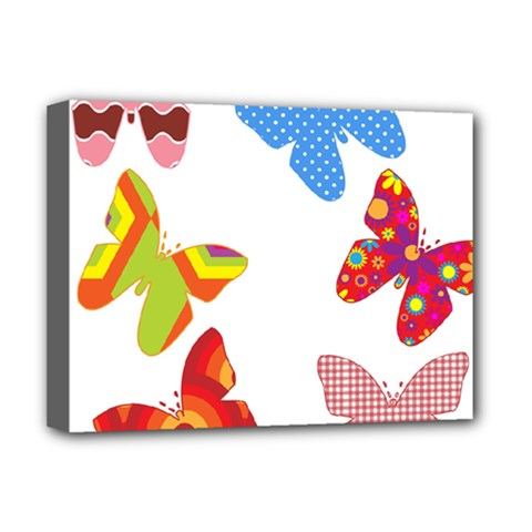 Colorful Butterflies Clipart Deluxe Canvas 16  X 12   by goodart