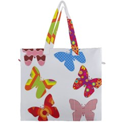 Colorful Butterflies Clipart Canvas Travel Bag by goodart