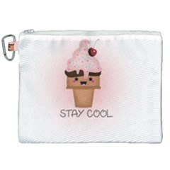 Stay Cool Canvas Cosmetic Bag (xxl) by ZephyyrDesigns