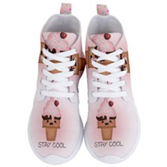 Stay Cool Women s Lightweight High Top Sneakers by ZephyyrDesigns