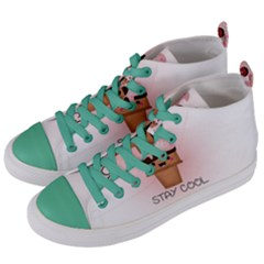 Stay Cool Women s Mid Top Canvas Sneakers by ZephyyrDesigns